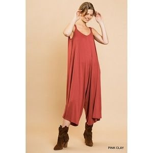 umgee wide leg cropped jumpsuit